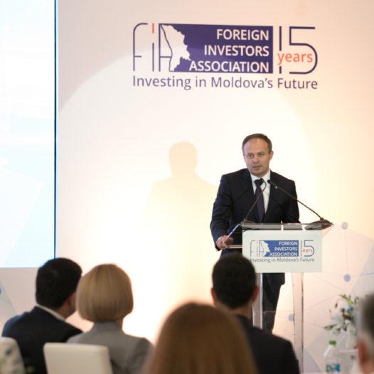 """realitatea.md: Candu, la 15 ani de la fondarea FIA. """"Fiecare companie străină care vine în Moldova înseamnă dezvoltare pentru țară"""""""