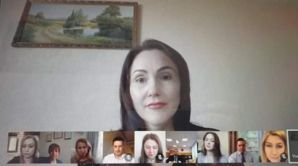 Video conference with the Ministry of Economy and Infrastructure