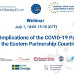 """""""Political Implications of the COVID-19 Pandemic for the EaP Countries"""" webinar"""